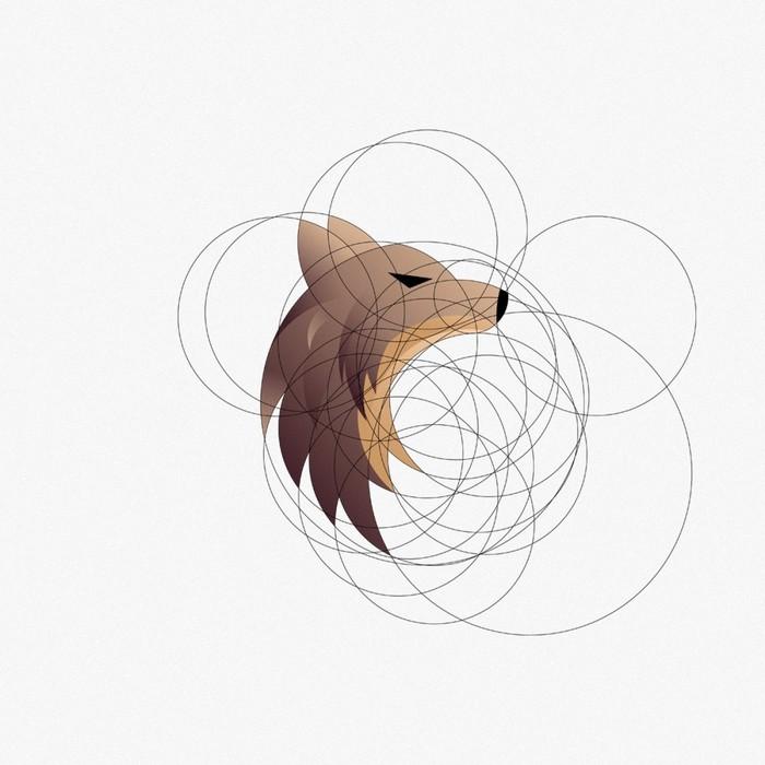 Волк по золотому сечению Волк, Логотип, Золотое сечение