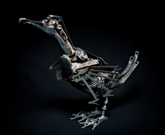 Скульптура из Ñлама Искусство из мусора, Современное искусство, Искусство, Люди, Длиннопост, Стимпанк