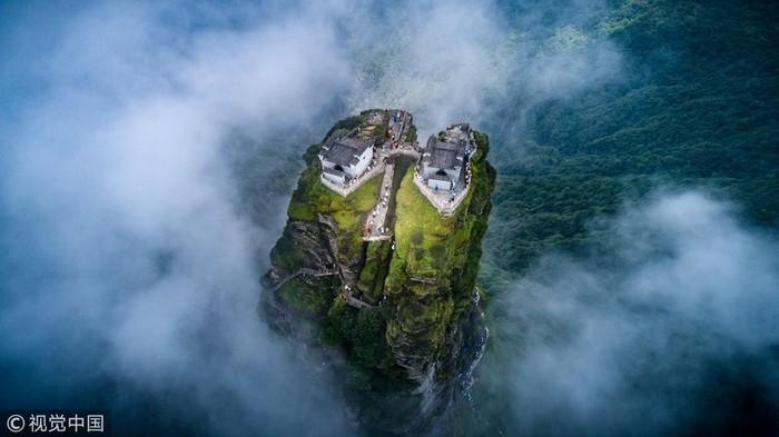 Гора Фаньцзин Китай, Лестница, Гифка, Длиннопост
