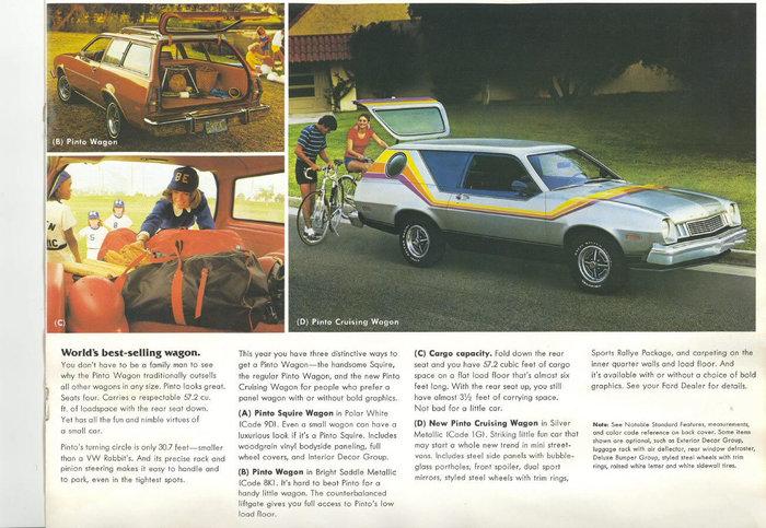Ford Pinto Cruising Wagon и его последователи. Веселый универсал конца 70-х Форд, 70-е, Авто, США, Длиннопост, Реклама, Брошюра
