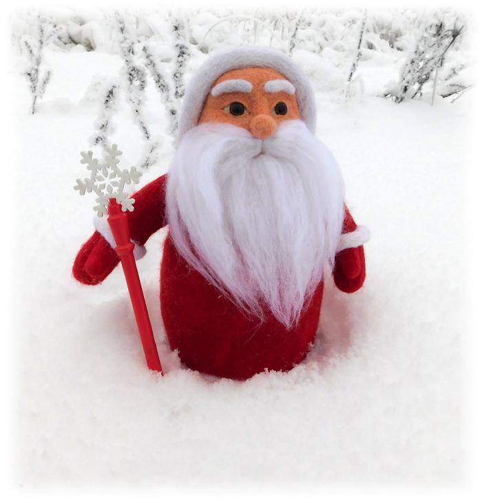 Дед Мороз и Синий трактор Сухое валяние, 3D печать, Дед Мороз, Синий Трактор, Рукоделие без процесса, Длиннопост