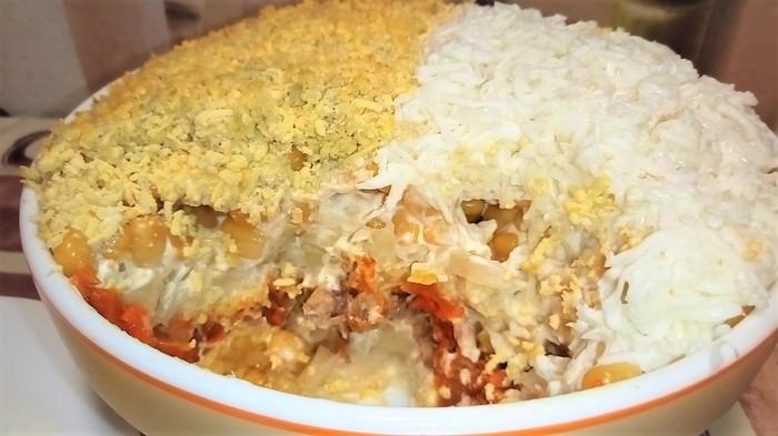Салат из сардин. Сытный и очень вкусный салат. Салат, Видео рецепт, Рецепт, Еда, Видео, Длиннопост
