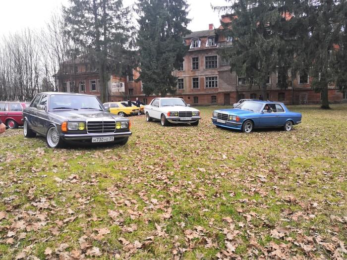 Слёт Mercedes w123 Железнодорожный, Калининградская область, Honor 10, Длиннопост, Мерседес