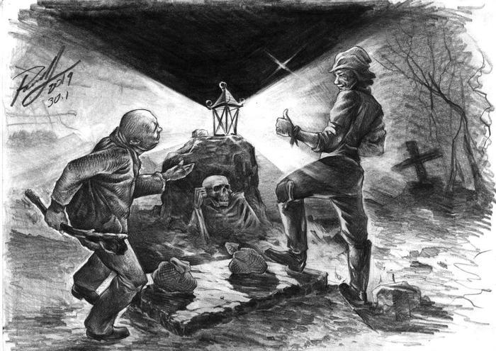 """Иллюстрации по мотивам песен группы """"Король и Шут"""" Король и шут, Иллюстрации, Графика, Рисунок карандашом, Длиннопост"""