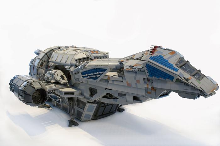 Чудесная модельSerenity из lego Serenity, Светлячок, LEGO, Космический корабль, Масштабная модель, Длиннопост