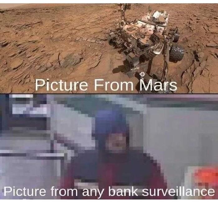 Изображение с Марса Смешное, Видео, Качество, Камера наблюдения