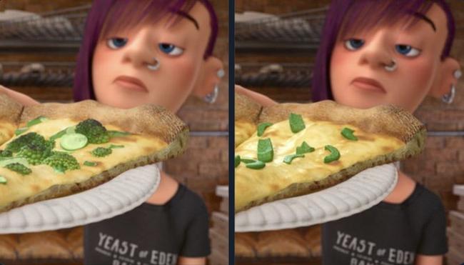 """В Японии в фильме """"Головоломка"""" начинка для пиццы была изменена на сладкий перец, поскольку дети в этой стране терпеть его не могут Япония, Pixar, Локализация, Креатив, Головоломка, Reddit"""