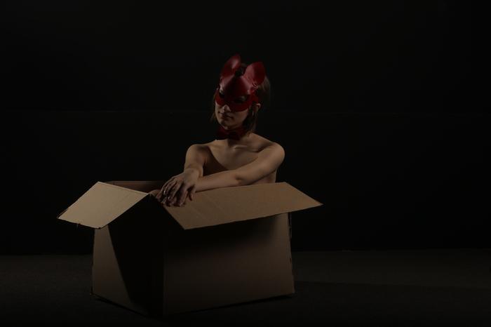 """""""Кошка"""" в коробке. Фотография, Маска"""
