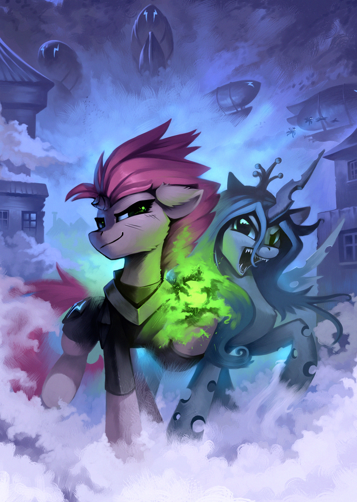 Villains United My Little Pony, Tempest Shadow, Queen Chrysalis, Changeling, Ramiras