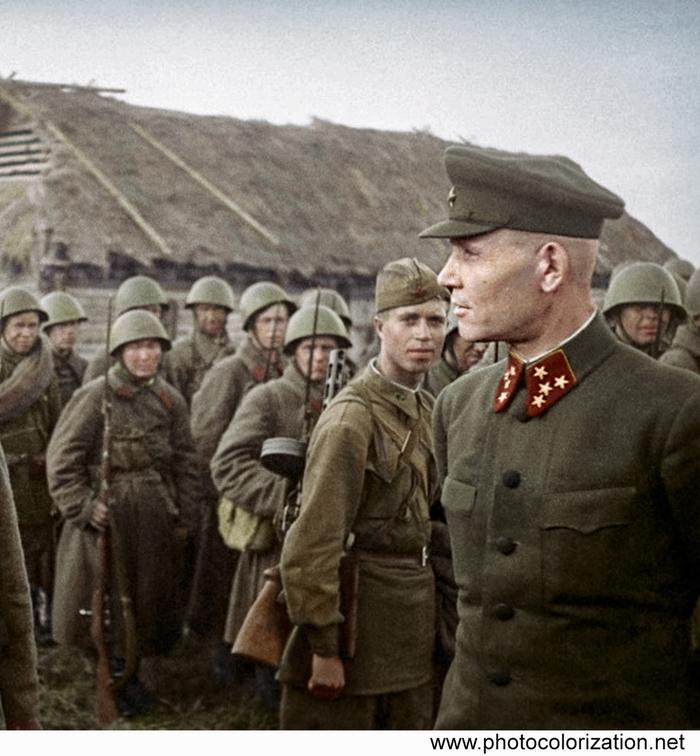 Моя колоризация Колоризация, Великая Отечественная война, Иван Конев, Вторая мировая война, СССР