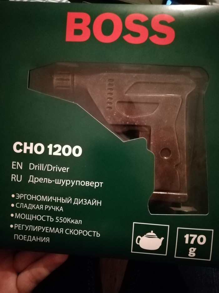 Шоколадный шуруповерт)