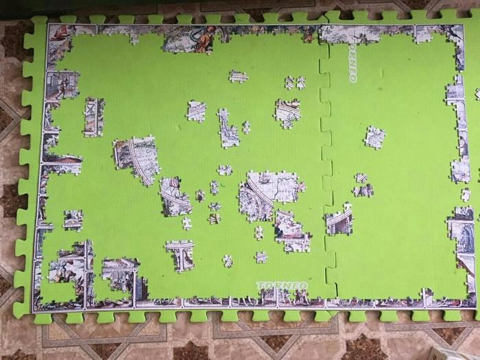 Сборка Puzzle в 1500 деталей. Puzzles, Сборка, Длиннопост, Пост 1 апреля 2019 г