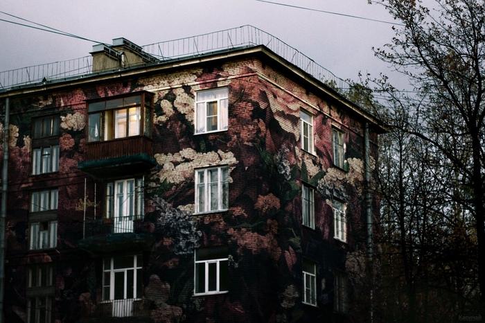 Цветами покрылись наши панельки Панельный дом, Цветы, Photoshop, Россия, Длиннопост