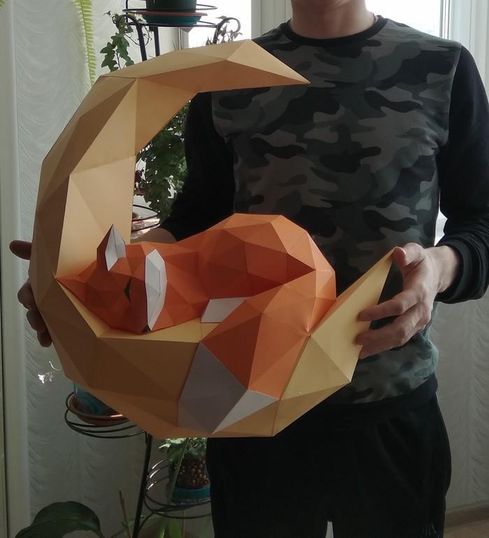 Вот, сделал Papercraft, Лиса, Рукоделие без процесса