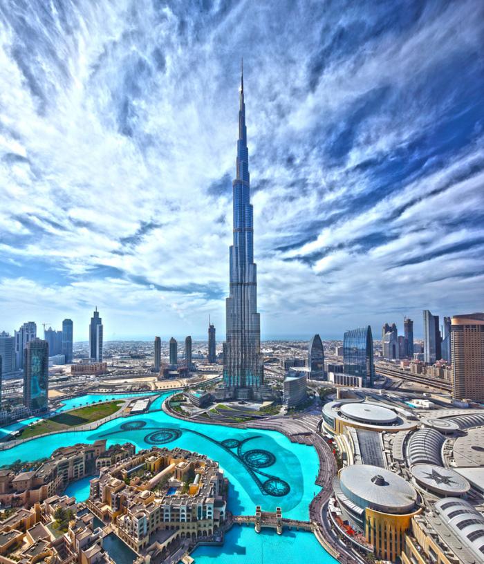 Бурдж-Халифа. Дубай, ОАЭ, Бурдж-Халифа, Высокое здание, Туризм, Длиннопост