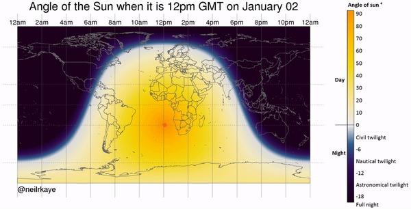Астрономическая залипалка Солнце, Земля, Астрономия, Часовые пояса, Залипалка, Гифка