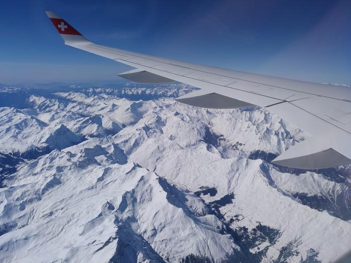 Альпы Вид из самолёта, Горы, Путешествия, Альпы
