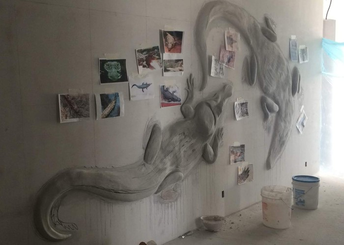 Крокоделы. Процесс. Барельеф, Лепнина, Крокодил, Творчество, Интерьер, Своими руками, Гипс, Гипсовая скульптура, Длиннопост