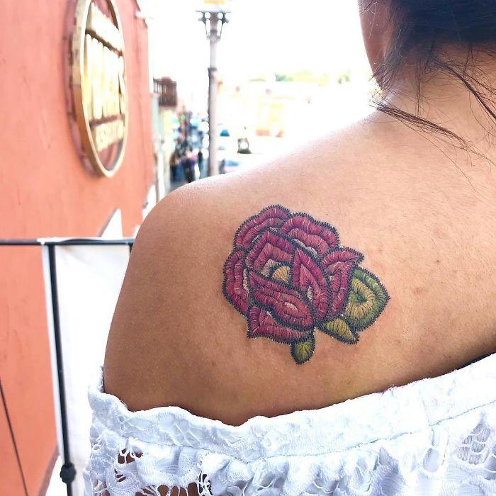 Татуировки - вышивки Тату, Девушка с тату, Длиннопост