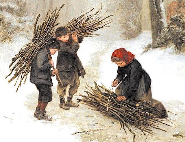 Сбор валежника, в Баварии. Валежник, Печка, Холодно, Пили, Дрова, Длиннопост