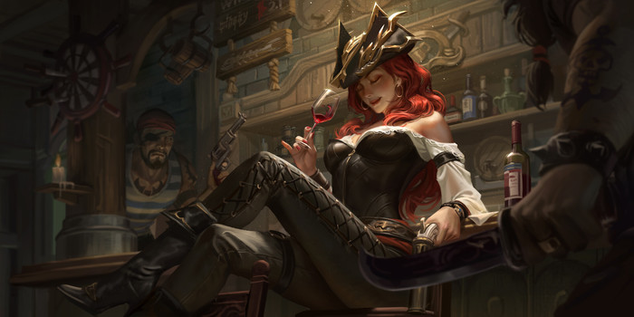 Miss Fortune Арт, Рисунок, Miss Fortune, League of Legends