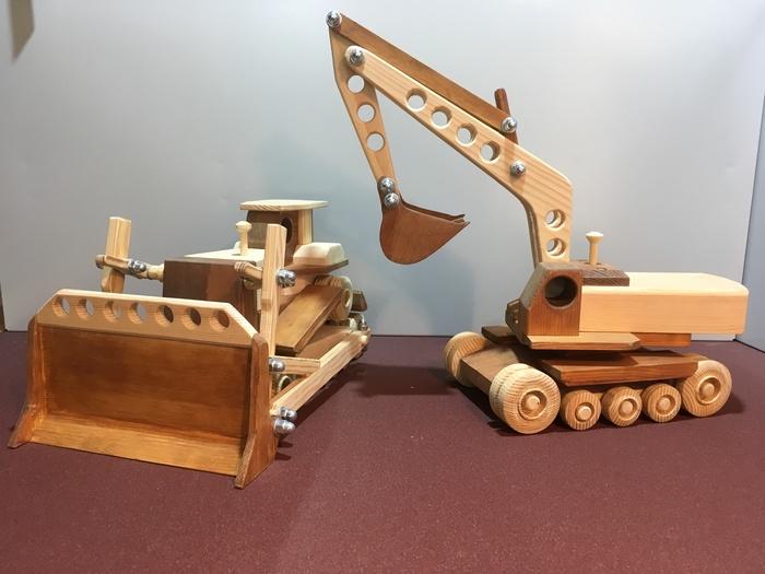 Экскаватор Изделия из дерева, Игрушки, Строительство, Длиннопост, Деревянные игрушки