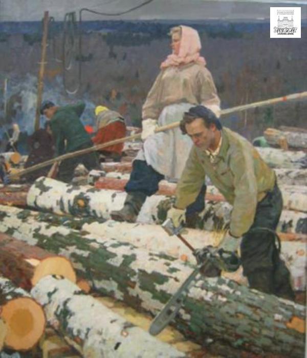"""Картина """"Лесоруб"""" как документ эпохи Лесоруб, Картина, Соцреализм, Длиннопост"""