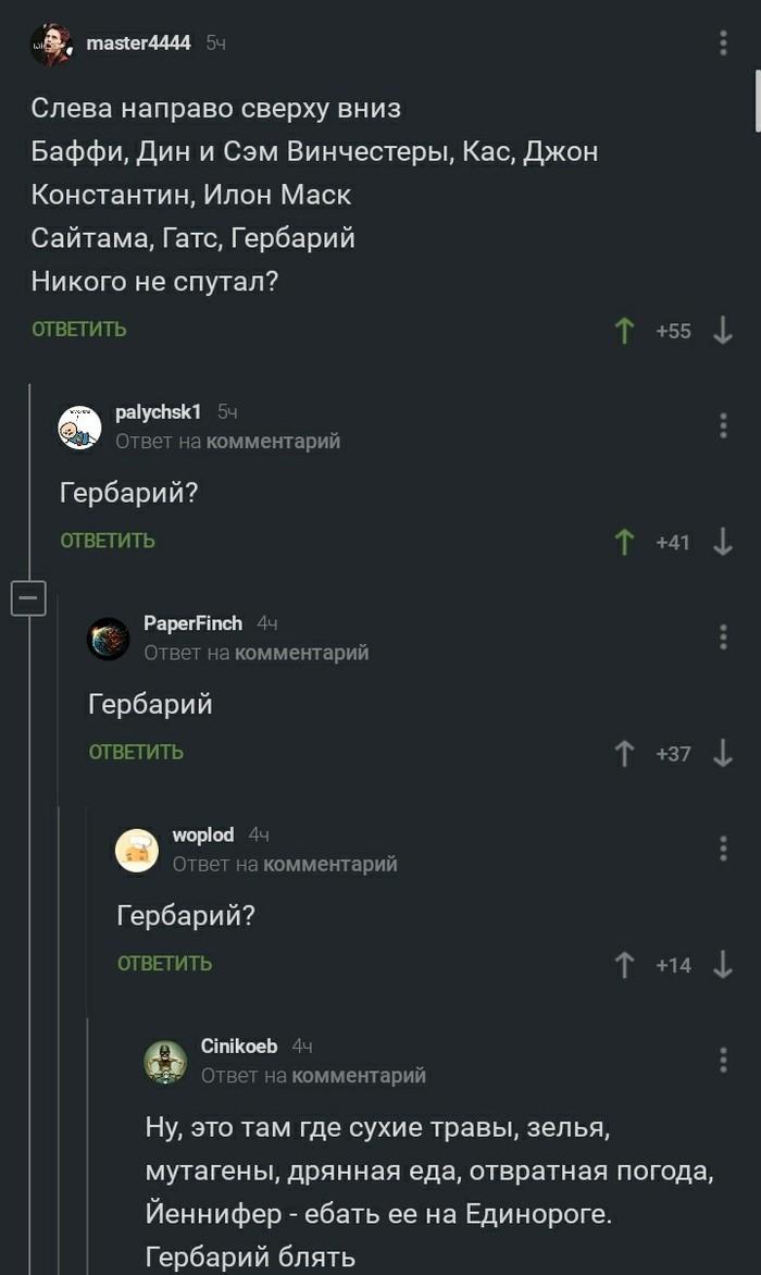 Гербарий Комментарии на Пикабу, Скриншот, Ведьмак, Мат