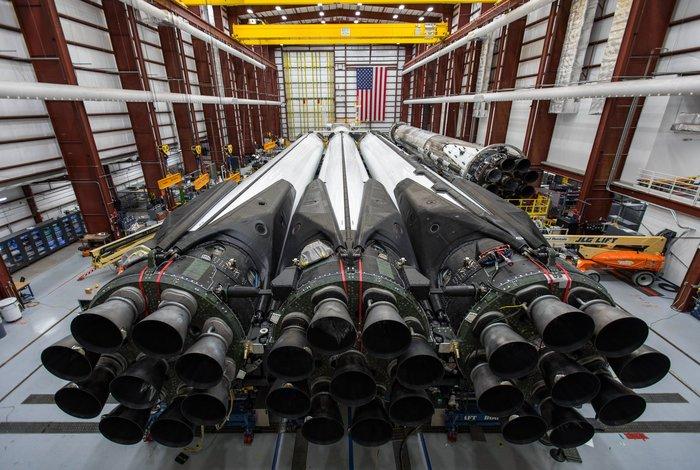 Заканчивается подготовка Falcon Heavy Block 5 к полету Spacex, Falcon Heavy, Block 5, Ракета-Носитель, Подготовка, Космос, Техника, Технологии, Длиннопост