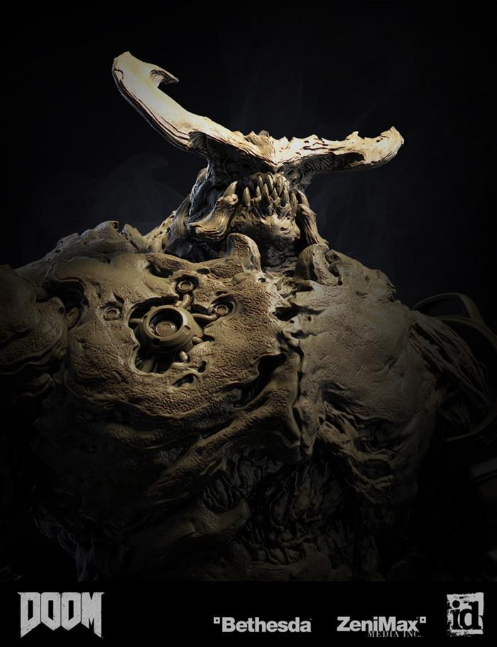 DOOM Doom, Id software, Bethesda, FPS, Моделлинг, Скульптинг, Zbrush, 3D, Длиннопост