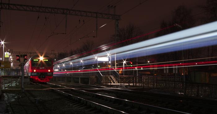 Платформа Новодачная Поезд, Платформа, Pentax