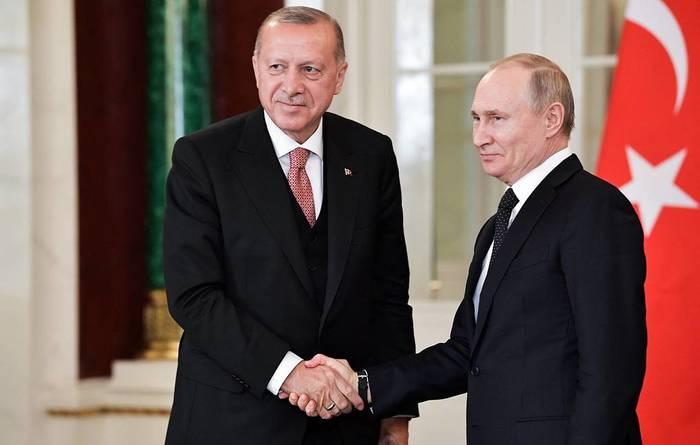 Путин и Эрдоган договорились о расширении сотрудничества Путин, Эрдоган, Турция, Длиннопост