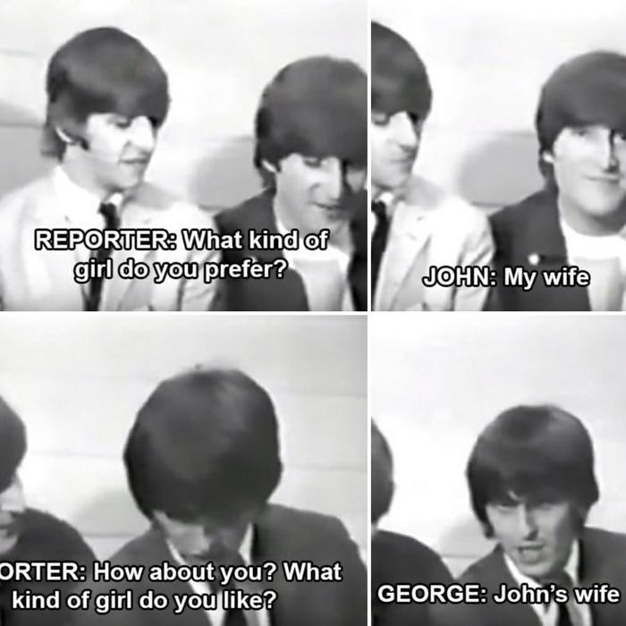 О девушках :) The Beatles, Джон Леннон, Жена, Интервью