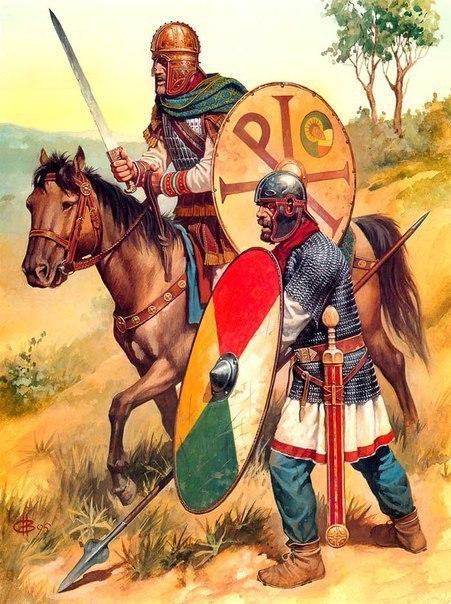 Римская империя с германскими солдатами (Delbruck H.) История, Римская империя, Армия, Древний Рим, Длиннопост