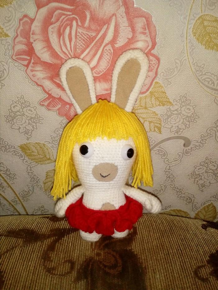 Бешеный кролик Вязание крючком, Рукоделие без процесса, Кролик, Длиннопост, Rayman raving rabbids