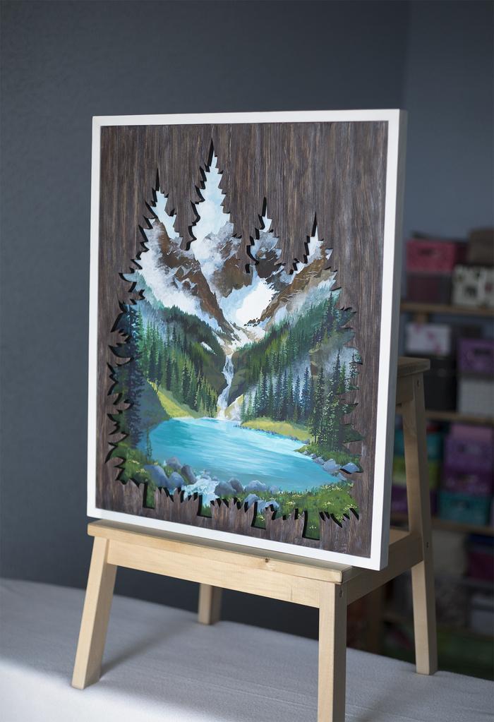 """""""Изумрудное озеро"""" Craftplaneta, Картина, Рисунок, Темпера, Лазерная резка, Рукоделие без процесса, Ручная работа, Длиннопост"""