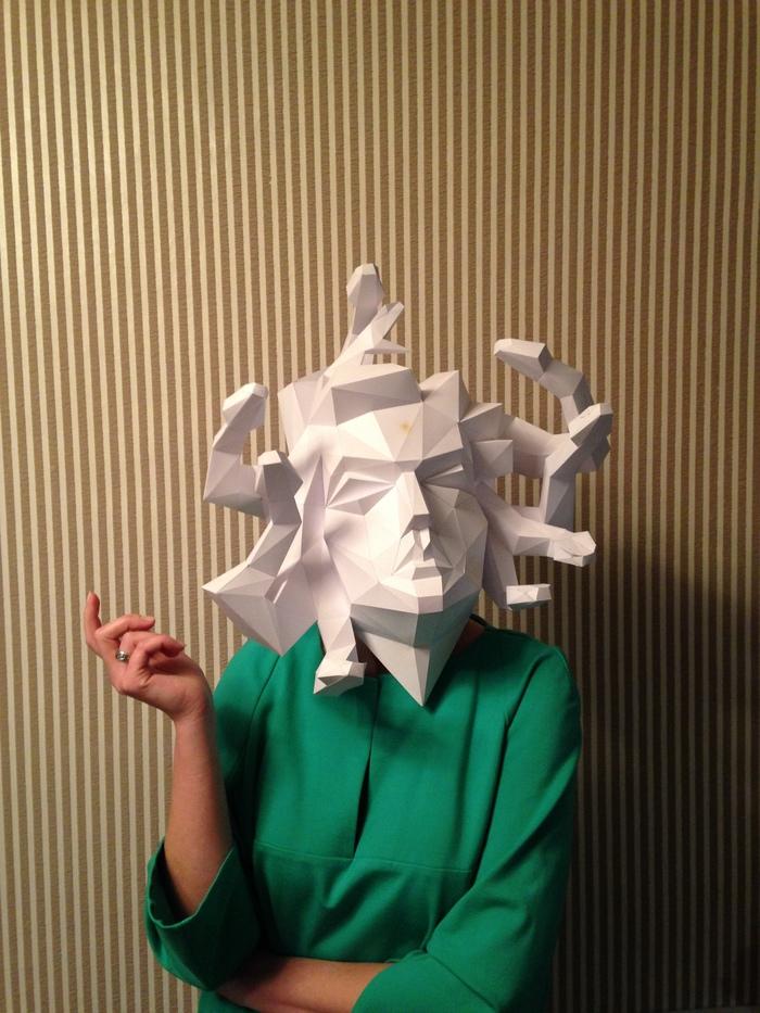 Я СДЕЛЯЛЬ v0.3 Papercraft, Бумажный моделизм, Low poly, Медуза горгона, Древнегреческие мифы