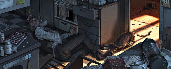 Сказочные персонажи в депрессивно-преступной реальности Джоэла Эдлунда (Joel Edlund) Картинки, Джоэла Эдлунда, Рисунок, Арт, Сказка, Взрослые сказки, Реальность, Видео, Длиннопост