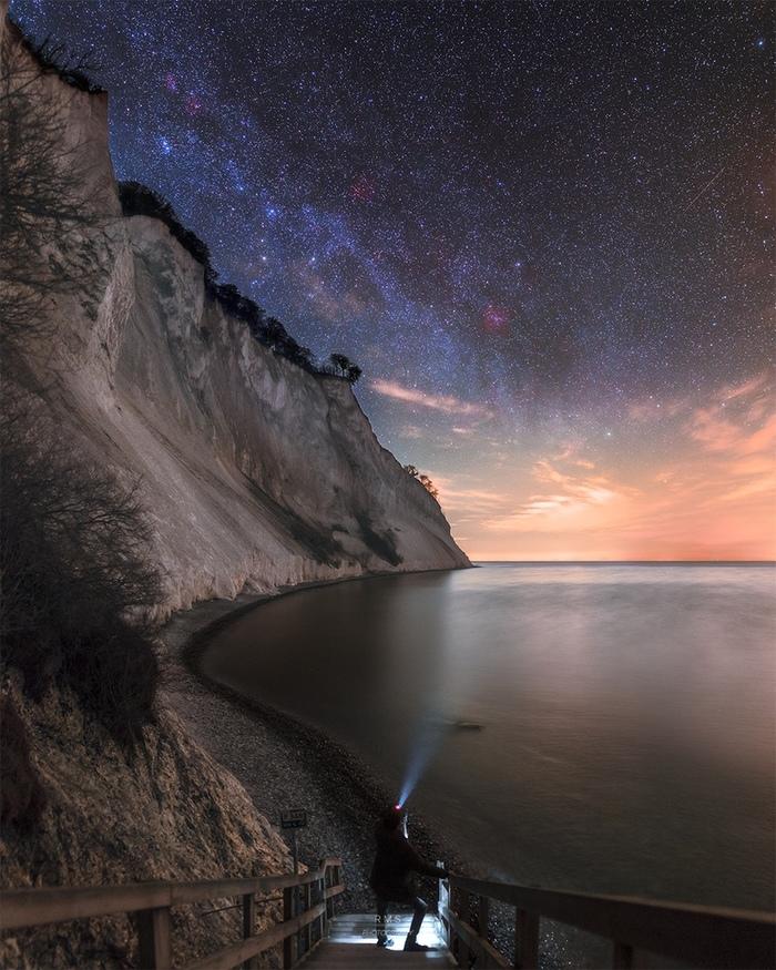 Под самым тёмным небом в Дании. Фотография, Небо, Ночь, Красота природы, Photoshop