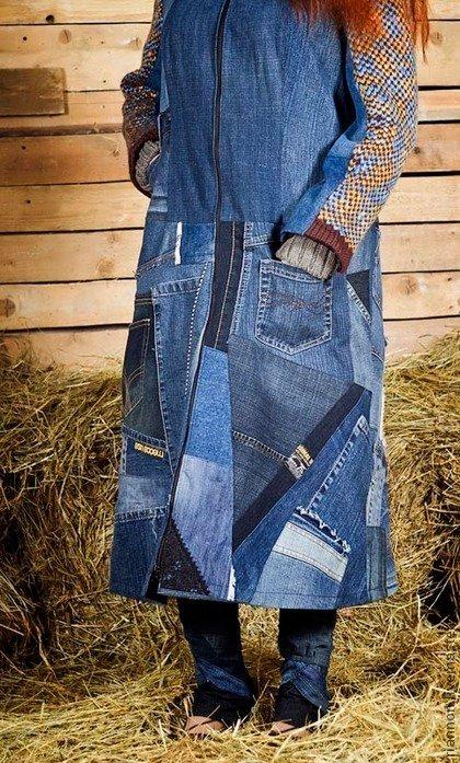 Мужики не выбрасывайте старые джинсы из них можно сделать подарок жене! Мода, Мода что ты делаешь, Платье, Девушкам, Женщина, Стиль