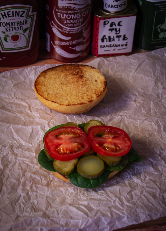 "Бургер ""Последний день лета"" Еда, Рецепт, Кулинария, Мясо, Бургер, Музыка, Сыр, Dinoburger, Длиннопост"