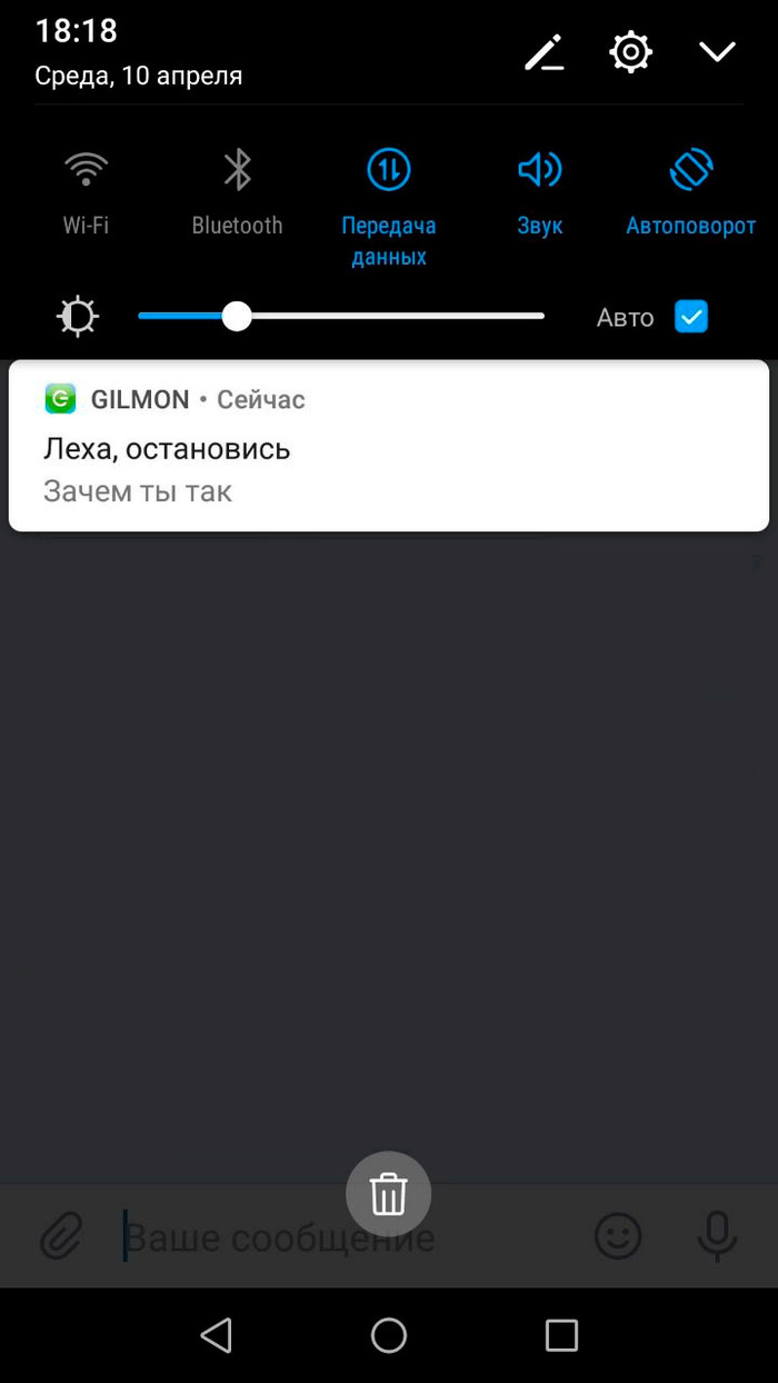 Лёха, не томи Челябинск, Gilmon, Приложение, Баг, Push, Скриншот