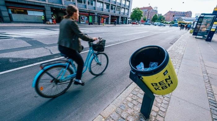 Урна для велосипеда Экология, Велосипед, Мусор, Урна, Дания, Отходы, Экосфера, Длиннопост