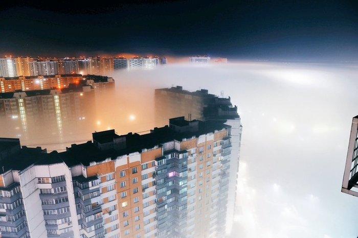 Вид из окна Химки, Туман, Длиннопост