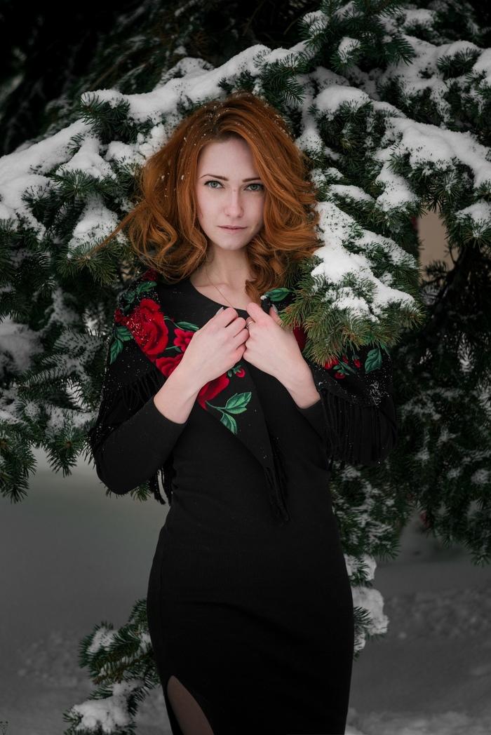 Прощание с зимой. Фотограф, Девушки, Рыжие, Портрет