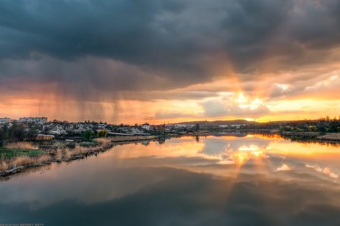 Прекрасный апрель) Фотография, Пейзаж, Закат, Апрель, Атмосфера, Nikon, Дождь