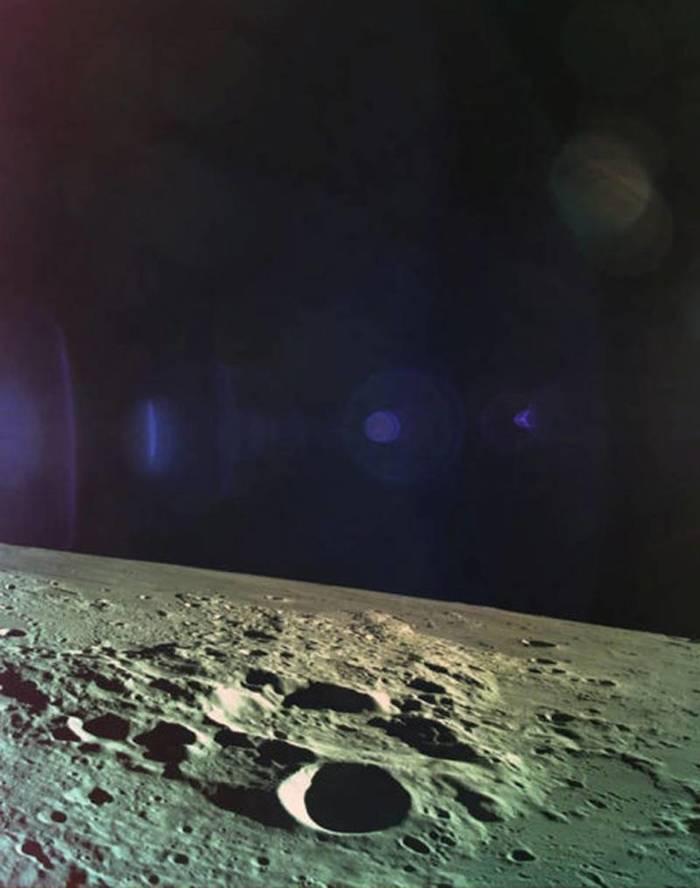 Последняя фотография с модуля «Берешит» Израиль, Берешит, Луна, Фотография, Космос, Зонд