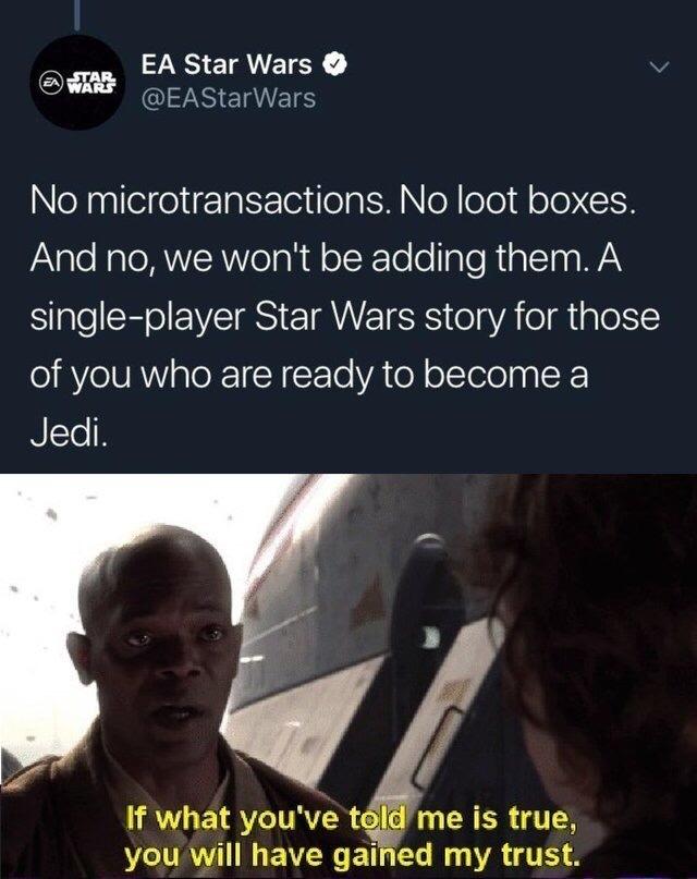 Смелый ход для торговой федерации Star Wars, Ea games, Лутбоксы, Star Wars Jedi: Fallen Order