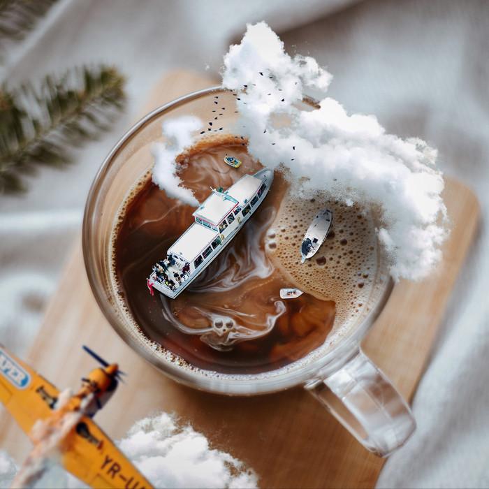 Мир кофе Арт, Кофе, Корабль, Самолет