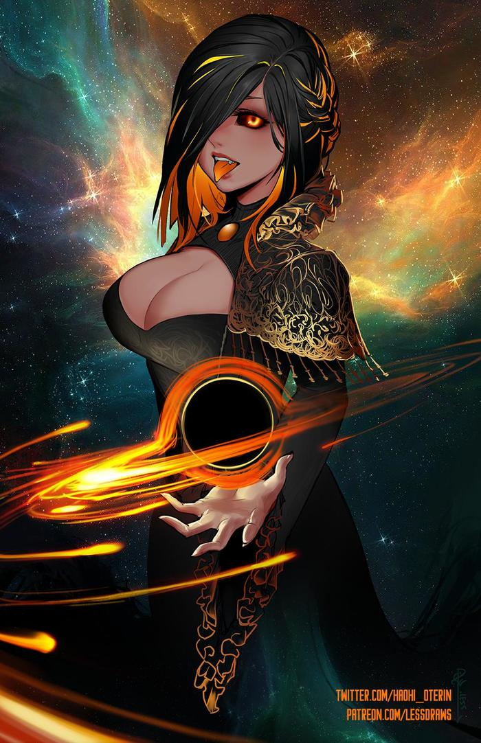 Красивая Чёрная Дыра от Haohi Oterin